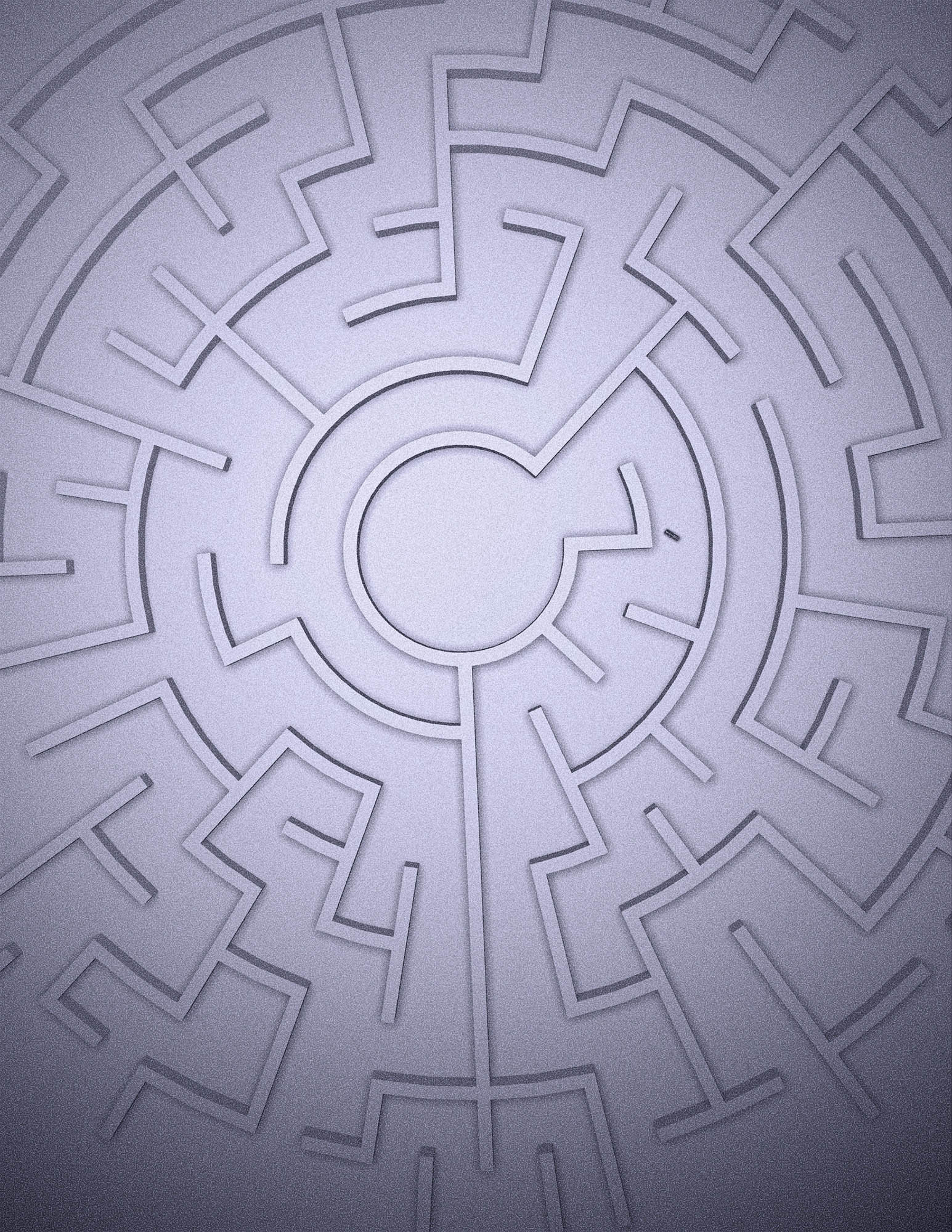 a birds eye view of a rod moving through a maze