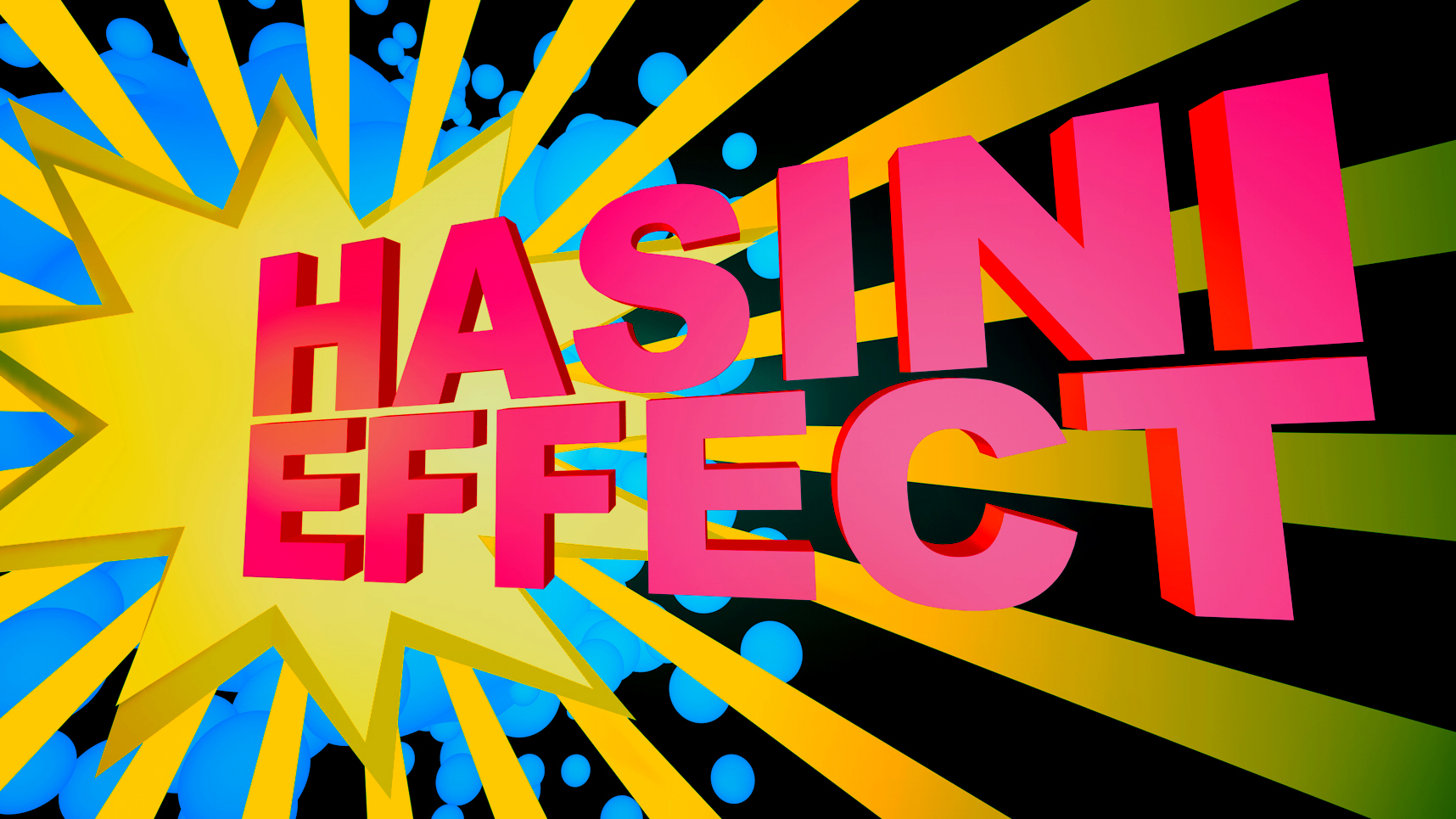 #hasinieffect logo splash designed by Martin Rietveld for a Ted talk slide deck.